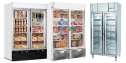 Double Glass Door Freezers
