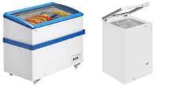 Glass Hinged Lid Chest Freezers