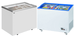Glass Sliding Lid Chest Freezers