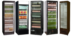 Single Door Upright Bottle Coolers