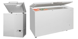 Solid Hinged Lid Chest Freezers