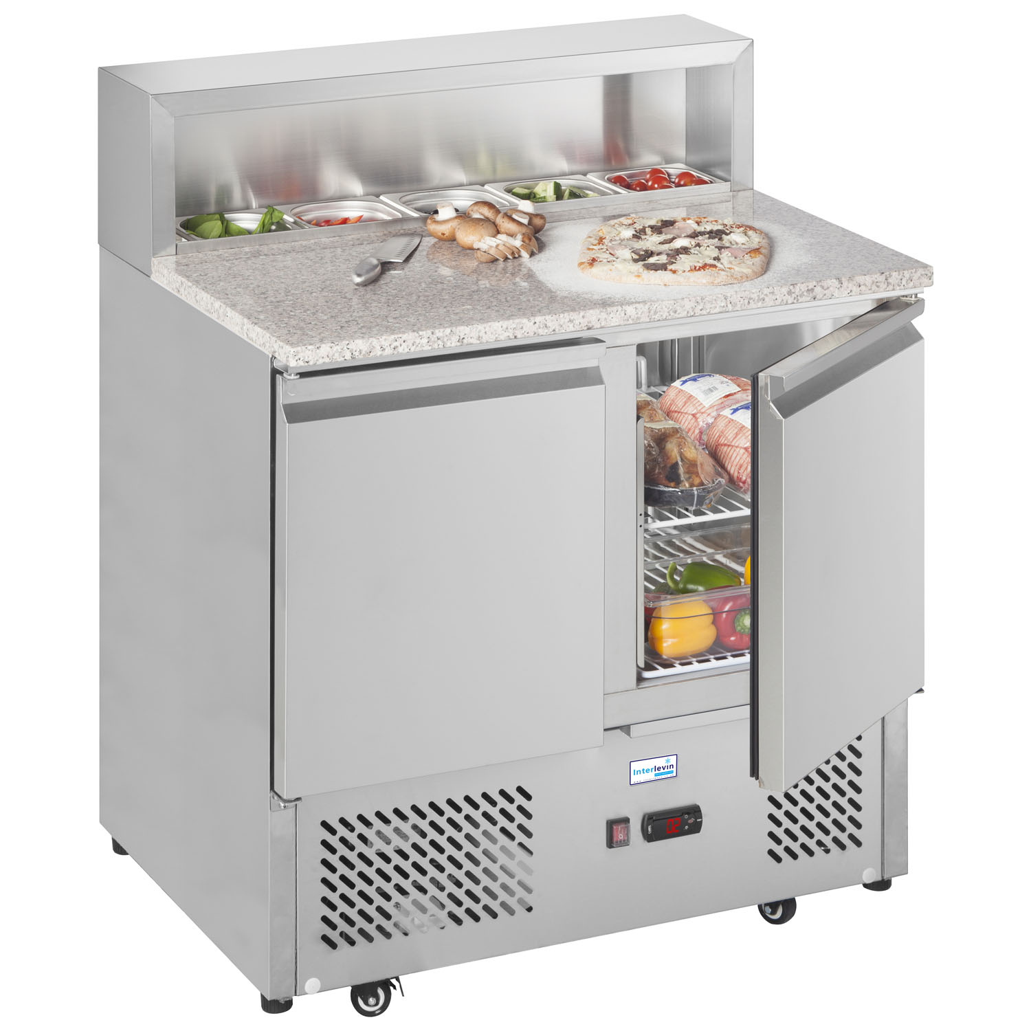 An image of Interlevin EPI900 Refrigerated Prep Counter
