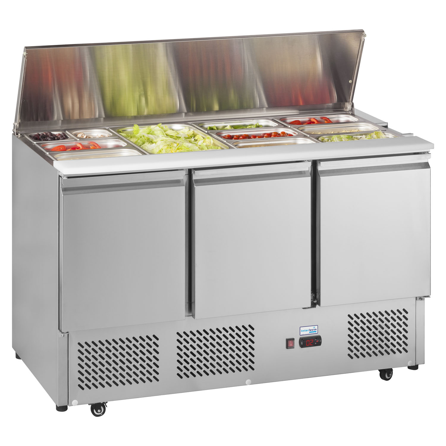 An image of Interlevin ESA1365 Refrigerated Saladette Counter