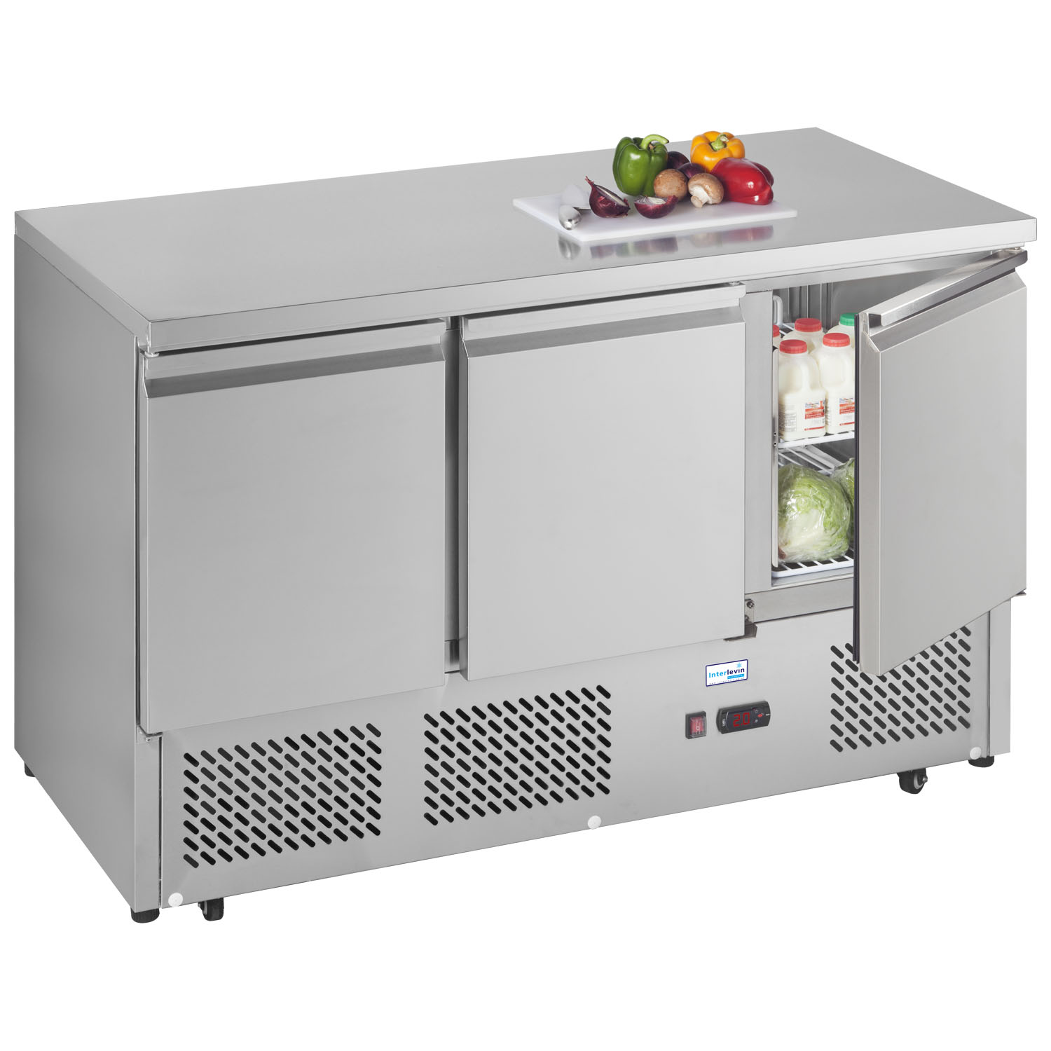 An image of Interlevin ESL1365 Refrigerated Prep Counter