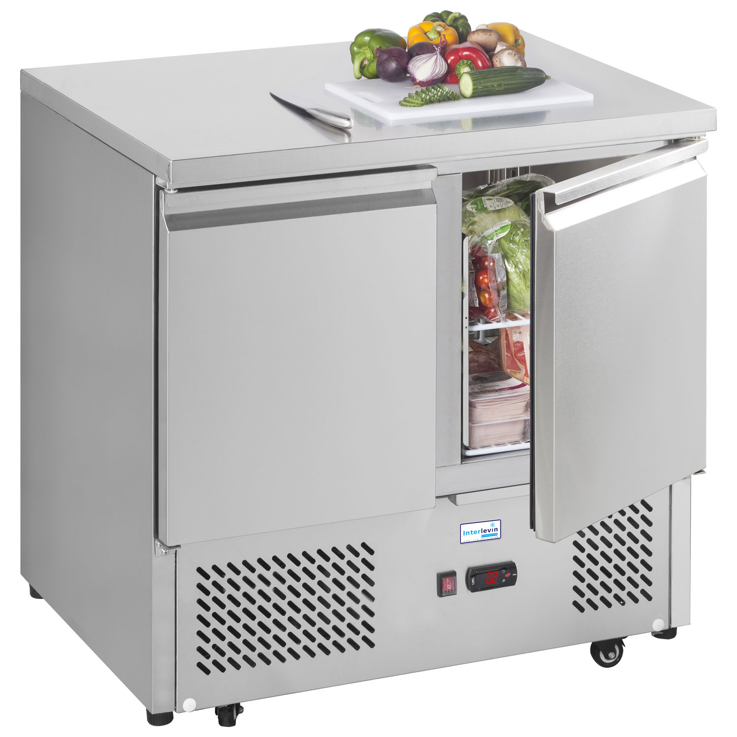 An image of Interlevin ESL900 Refrigerated Prep Counter
