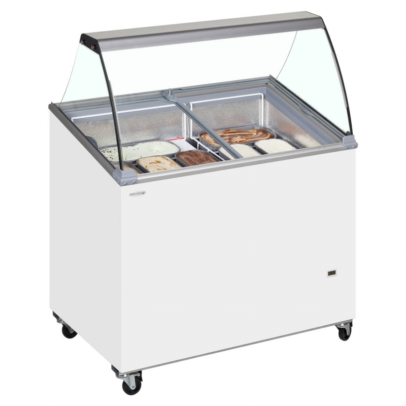 An image of Tefcold ICSCE Tub Ice Cream Display With Canopy