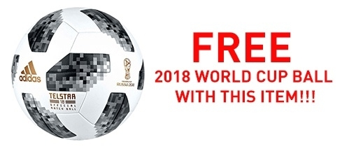 FREE world cup 2018 football with this item.