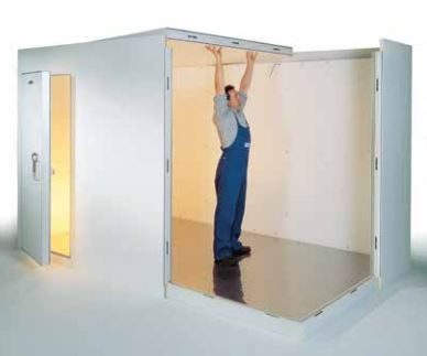 Engineer building a cold room