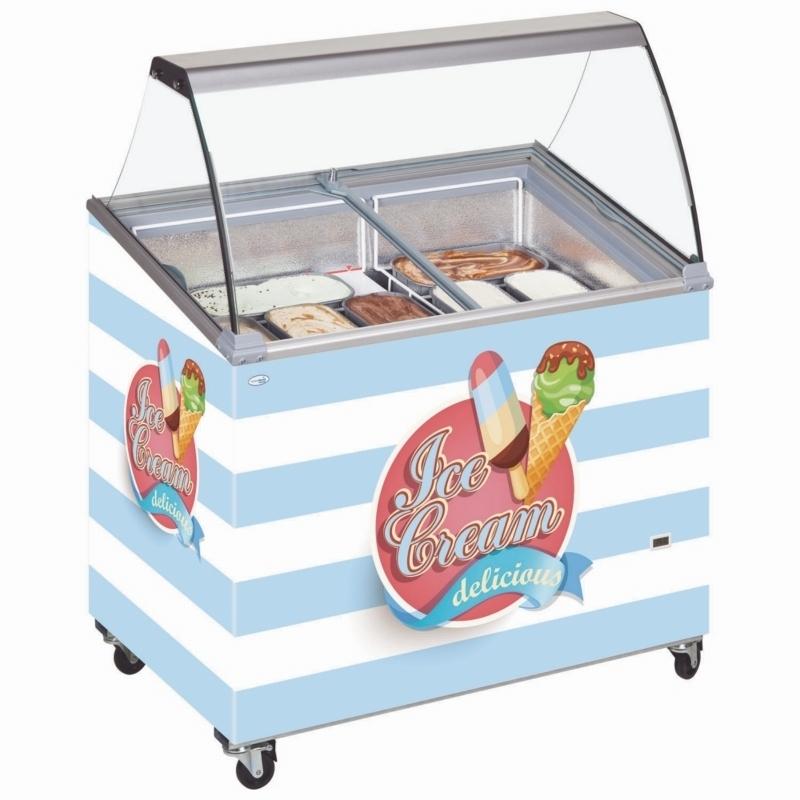 Custom Branded Tefcold SCE Canopy ice cream display