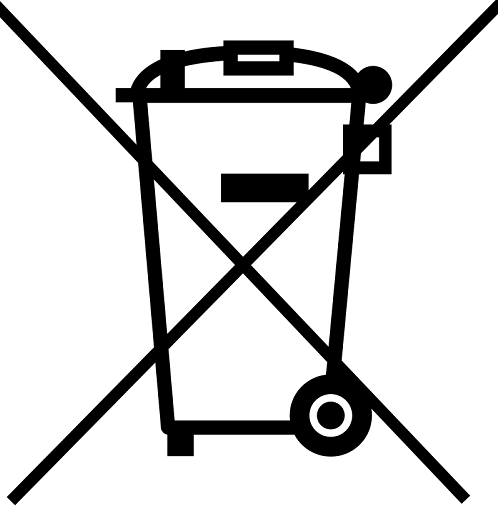 Crossed out wheelie bin